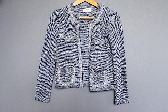 crop knit jacket hush