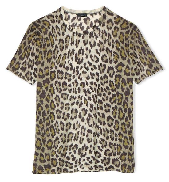 joseph cashmere tee leopard