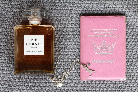 passport and chanel no5